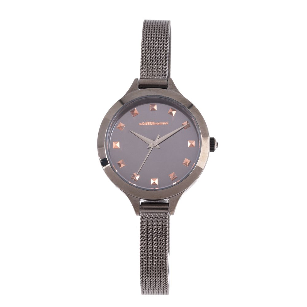 Relógio Analógico Feminino Chilli Beans Metal Crystal Ônix RE.MT.1020-2222