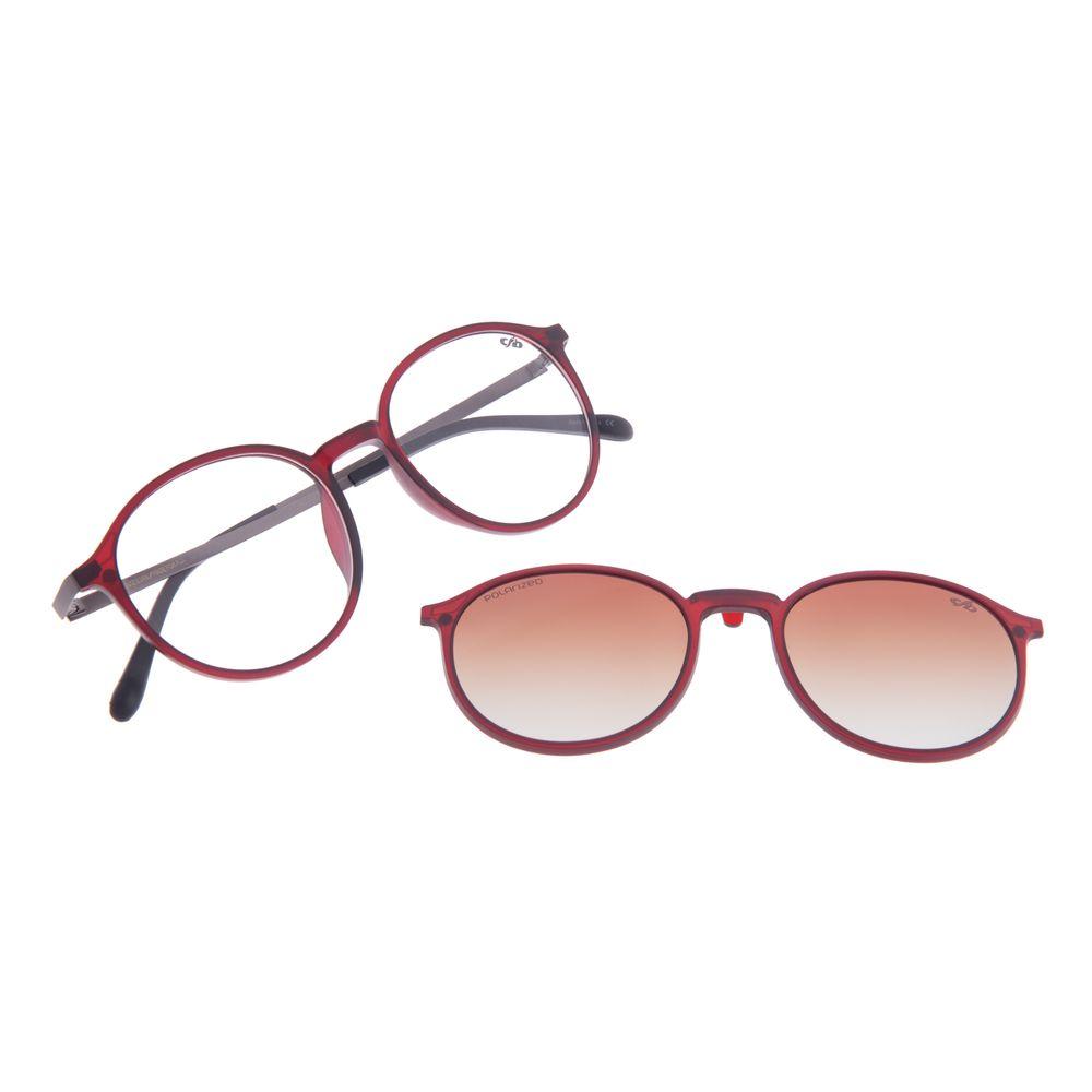 Armação Para Óculos de Grau Unissex Chilli Beans Multi Polarizado Degradê Marrom LV.MU.0342-5701