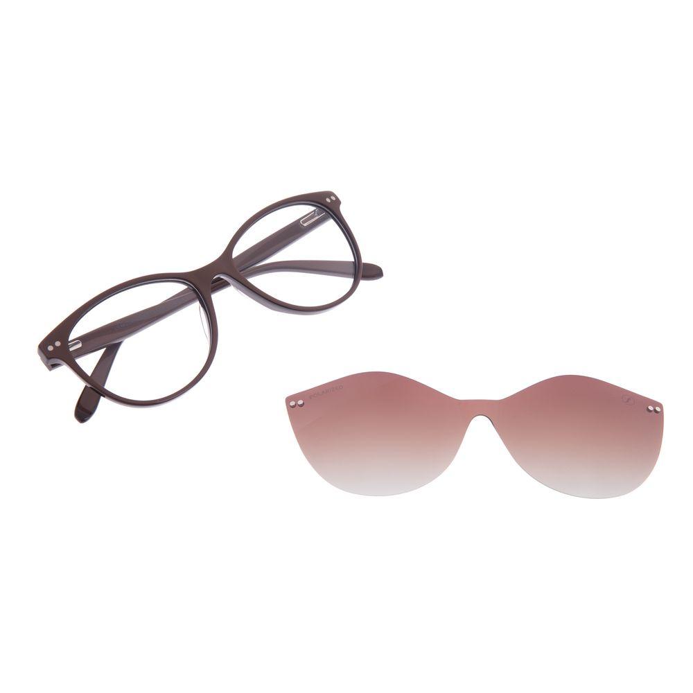 Armação Para Óculos De Grau Feminino Chilli Beans Multi Marrom Polarizado LV.MU.0472-5702
