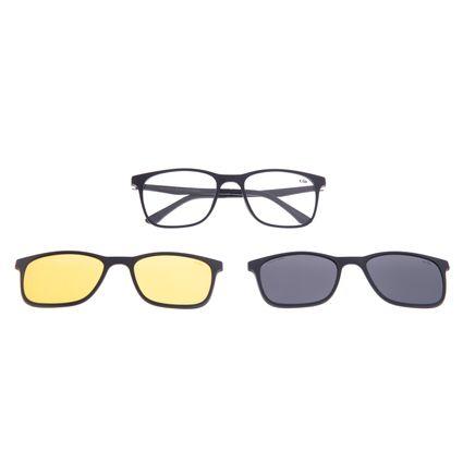 Armação Para Óculos de Grau Masculino Chilli Beans Multi 3 em 1 Preto Polarizado LV.MU.0519-0101