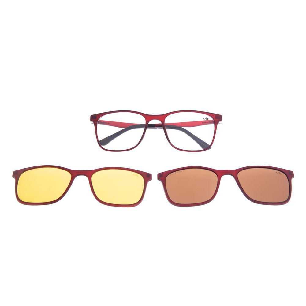 Armação Para Óculos de Grau Masculino Chilli Beans Multi 3 em 1 Vinho Polarizado LV.MU.0519-0217