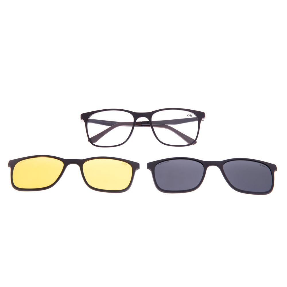 Armação Para Óculos de Grau Masculino Chilli Beans Multi 3 em 1 Marrom Polarizado LV.MU.0519-0102