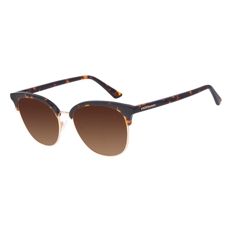Óculos de Sol Feminino Chilli Beans Classic Trend Tartaruga OC.CL.3053-5706