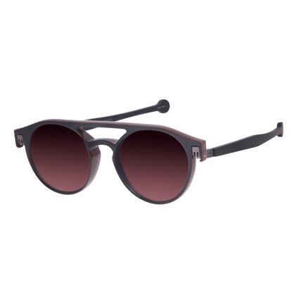 Óculos de Sol Unissex Reverse Redondo Classic Marrom OC.CL.3217-5702