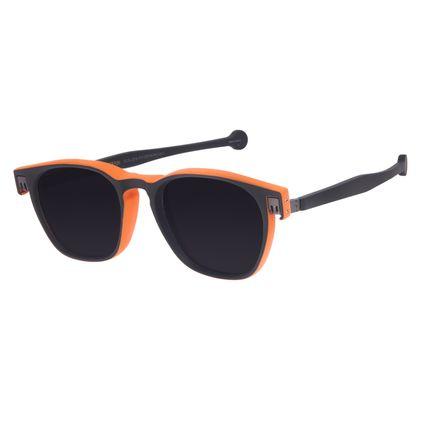 Óculos de Sol Unissex Reverse Quadrado Classic Preto Fosco OC.CL.3218-3101