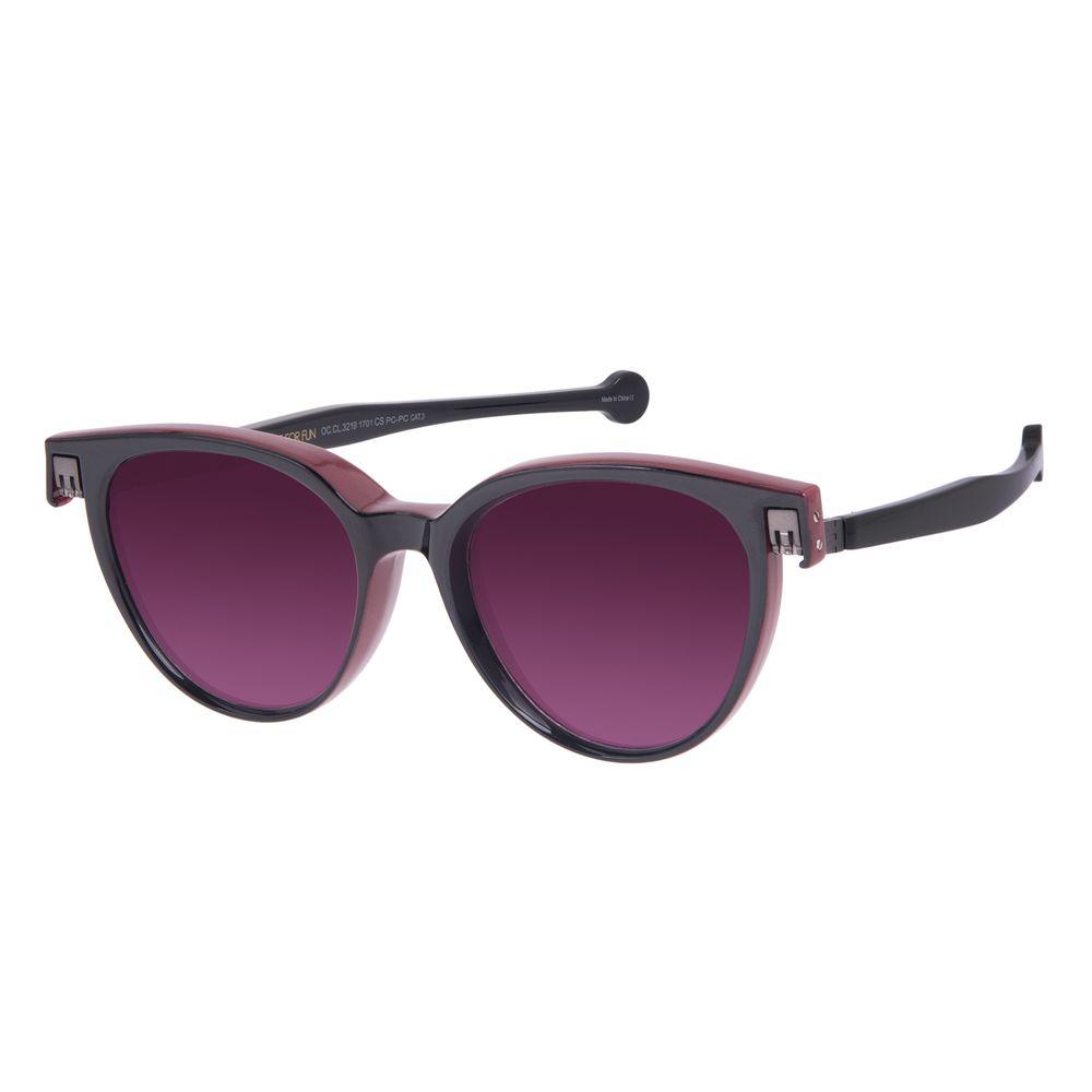 Óculos de Sol Unissex Reverse Redondo Classic Brilho Preto OC.CL.3219-1701