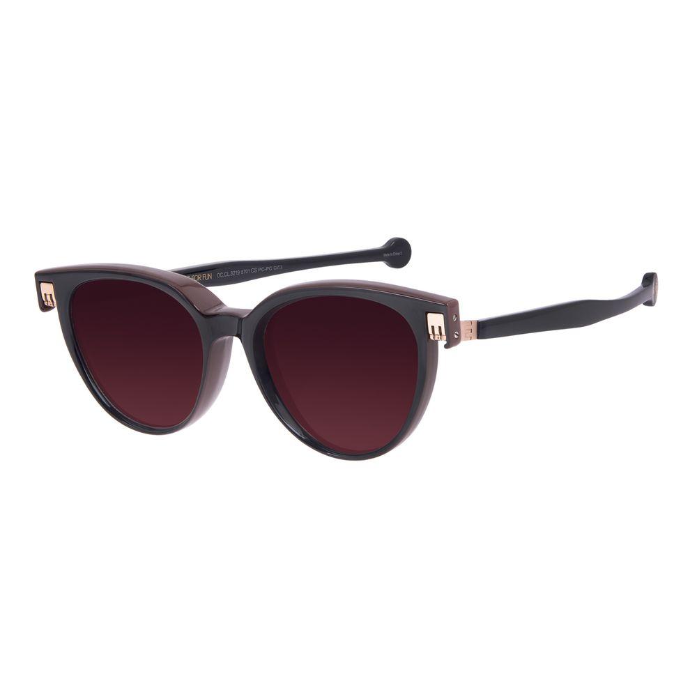 Óculos de Sol Unissex Reverse Redondo Classic Brilho Degradê Marrom OC.CL.3219-5701