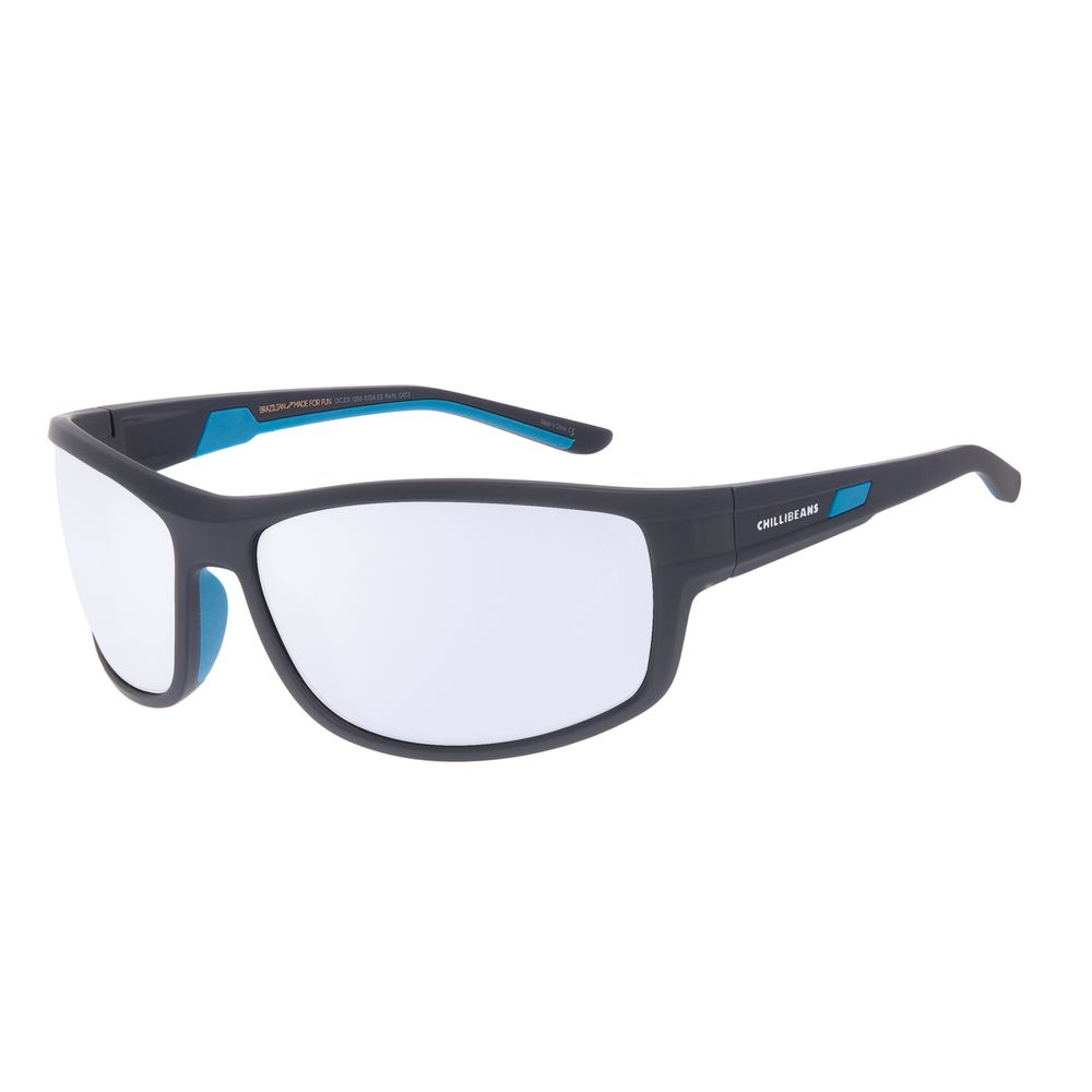 Óculos de Sol Masculino Chilli Beans Performance Cinza Polarizado OC.ES.1255-0704