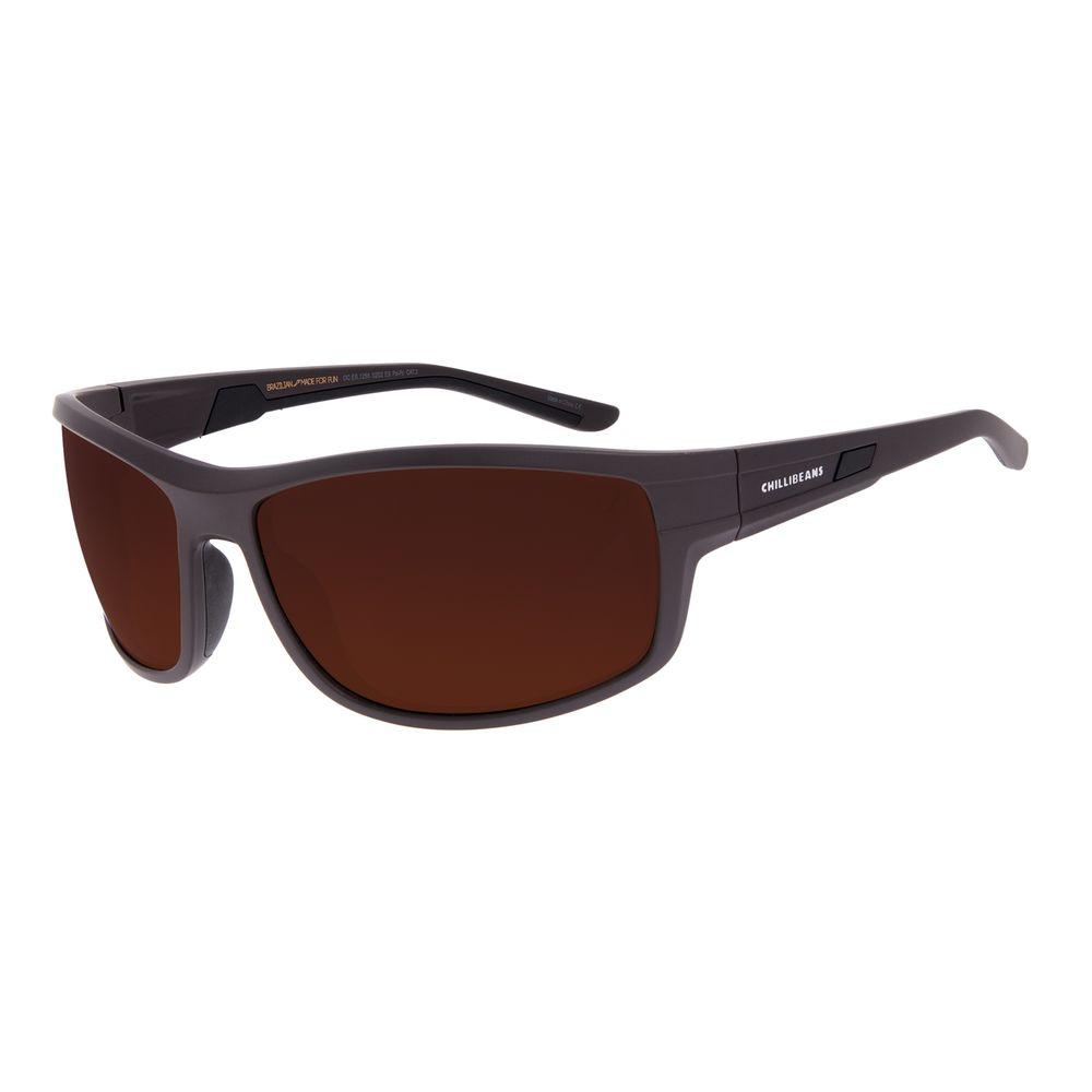 Óculos de Sol Masculino Chilli Beans Performance Marrom Polarizado OC.ES.1255-0202
