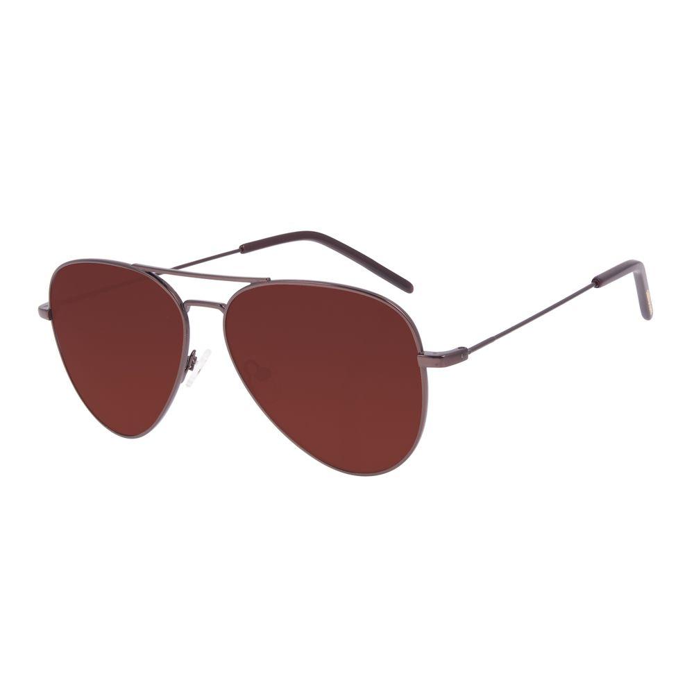 Óculos de Sol Unissex Chilli Beans Aviador Marrom OC.MT.3018-0202