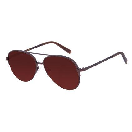 Óculos de Sol Unissex Chilli Beans Aviador Marrom OC.MT.3017-0202