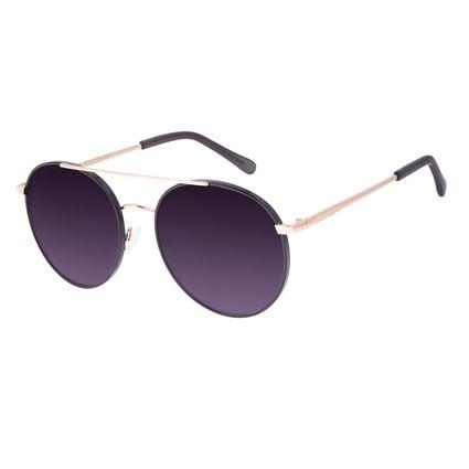 Óculos de Sol Feminino Chilli Beans Redondo Dourado OC.MT.2955-2021