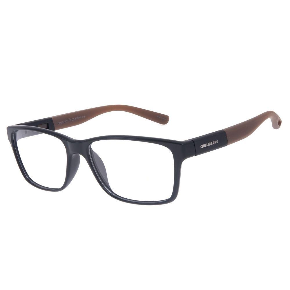 Armação Para óculos de Grau Feminino Chilli Beans 2 em 1 Vermelho LV.IJ.0187-0116