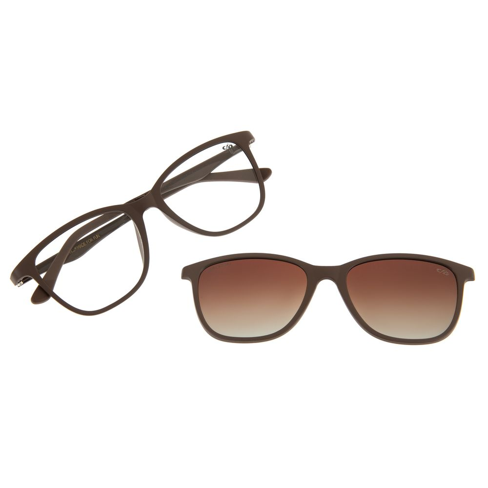 Armação Para Óculos de Grau Feminino Chilli Beans Multi Basic Marrom Polarizado LV.MU.0050-2002