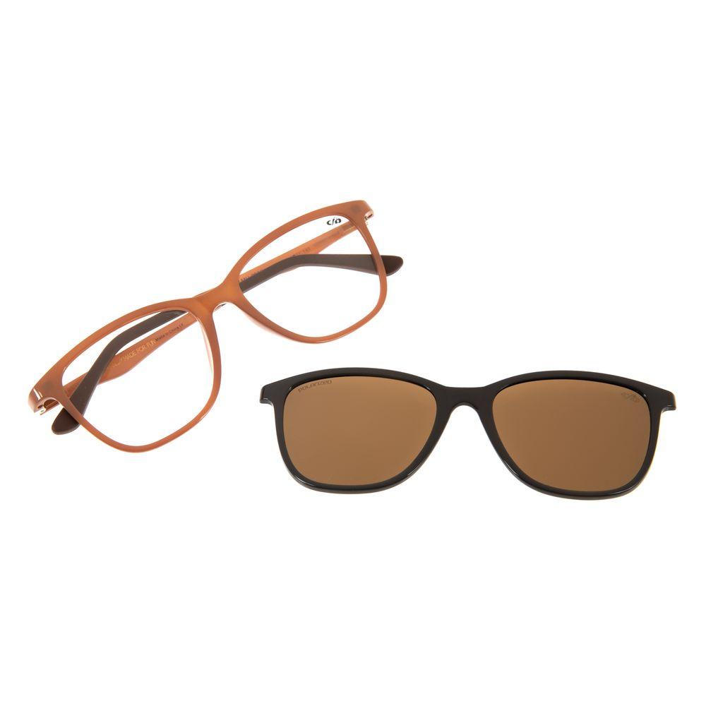Armação Para Óculos de Grau Feminino Chilli Beans Multi Basic Marrom Escuro Polarizado LV.MU.0050-4702