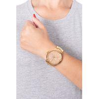 Relógio Analógico Feminino Funk-se Pedraria Dourado RE.MT.1165-2121.4