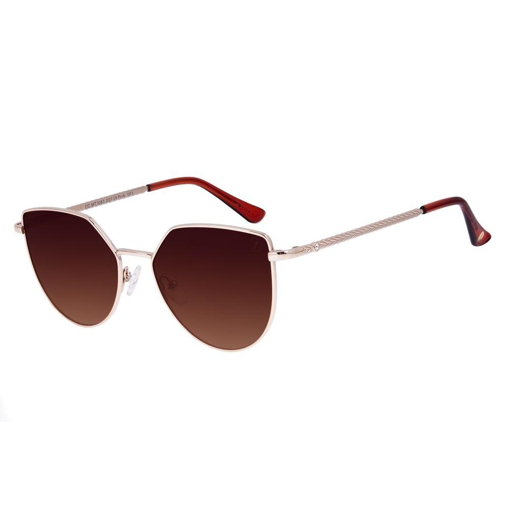 Óculos de Sol Feminino Swarovski Dia dos Namorados Cat Dourado OC.MT.3063-2021