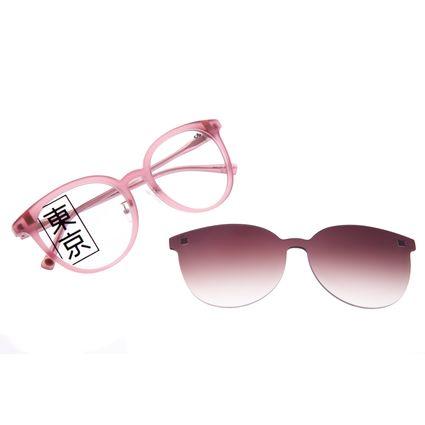 Armação Para Óculos de Grau Feminino Tokyo Sakura Multi Degradê Marrom LV.MU.0434-5795