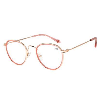 Armação para Óculos de Grau Feminino Chilli Beans Redondo Rose LV.MT.0406-9595