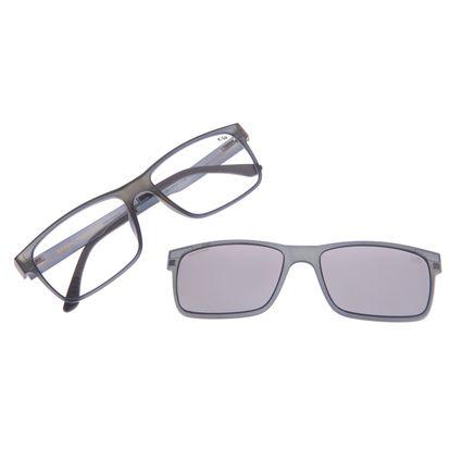 Armação Para Óculos De Grau Masculino Chilli Beans Multi Cinza Escuro LV.MU.0137-0128