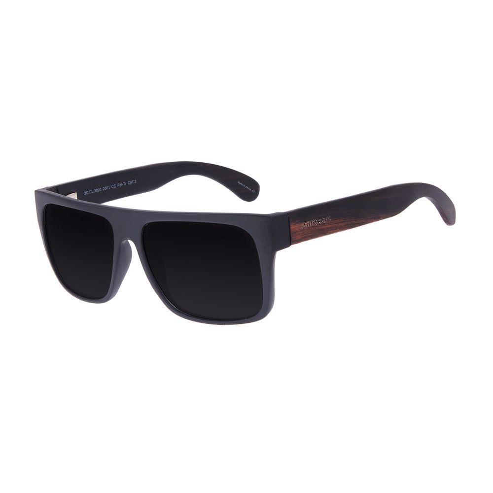 Óculos de Sol Masculino Chilli Beans Bamboo Degradê Polarizado OC.CL.3003-2001