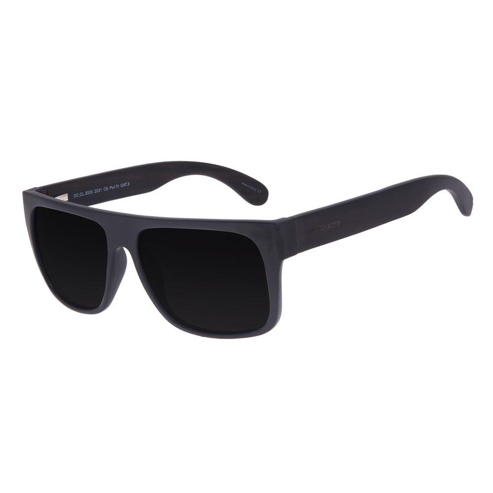 Óculos de Sol Masculino Chilli Beans Essential Bamboo Fosco Polarizado OC.CL.3003-2031