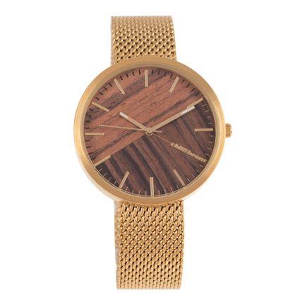 Relógio Analógico Feminino Chilli Beans Bamboo Dourado RE.MT.1188-0221