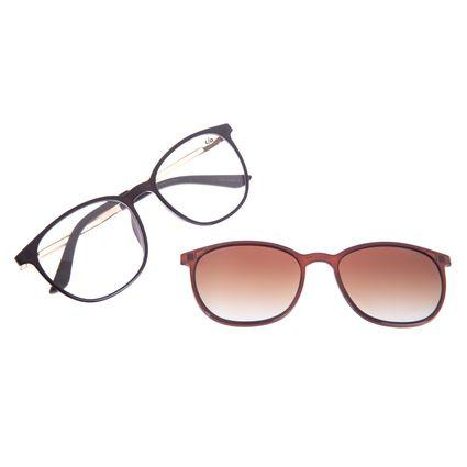 Armação Para Óculos de Grau Feminino Chilli Beans Multi Degradê Marrom Polarizado LV.MU.0187-5730