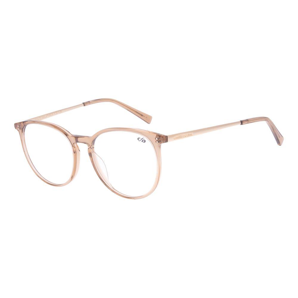 Armação Para Óculos de Grau Unissex Chilli Beans Redondo Marrom LV.AC.0662-0221