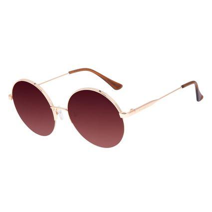 Óculos de Sol Feminino Chilli Beans Dia das Mães Banhado a Ouro Degradê Marrom OC.MT.3022-5721