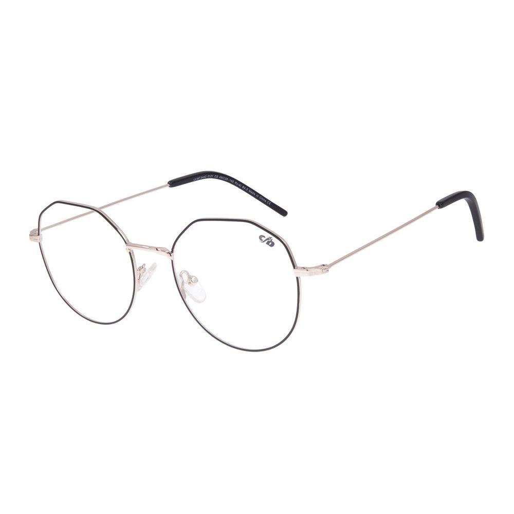 Armação Para Óculos de Grau Feminino Chilli Beans Dia das Mães Metal Preto LV.MT.0442-0121