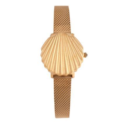 Relógio Analógico Feminino Mar.É Dia das Mães Dourado RE.MT.1169-8021