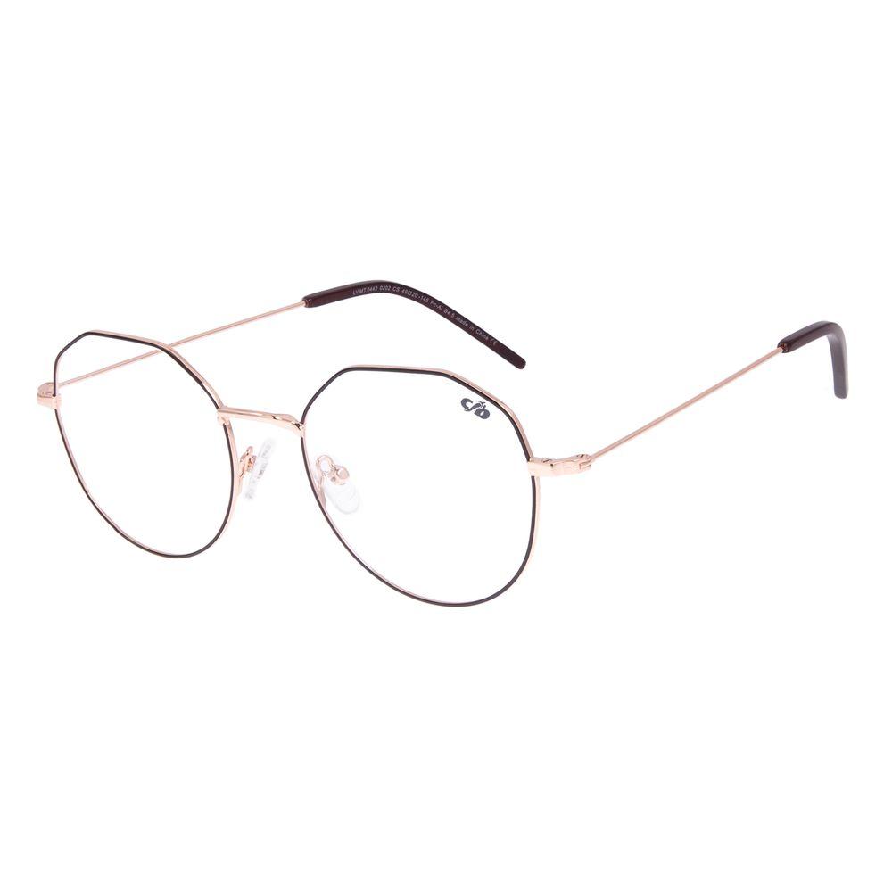 Armação Para Óculos de Grau Feminino Chilli Beans Dia das Mães Metal Marrom LV.MT.0442-0202