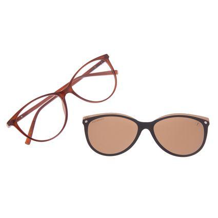 Armação Para Óculos de Grau Feminino Chilli Beans Multi Dia das Mães Marrom Polarizado LV.MU.0477-0202