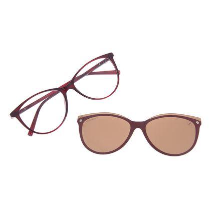 Armação Para Óculos de Grau Feminino Chilli Beans Multi Dia das Mães Vinho Polarizado LV.MU.0477-0217