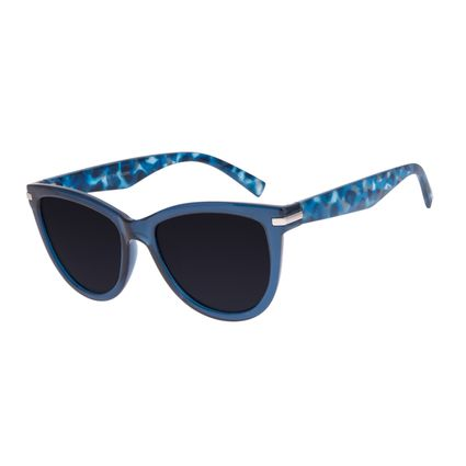 Óculos de Sol Feminino Chilli Beans Quadrado Tartaruga Azul Polarizado OC.CL.3282-0108