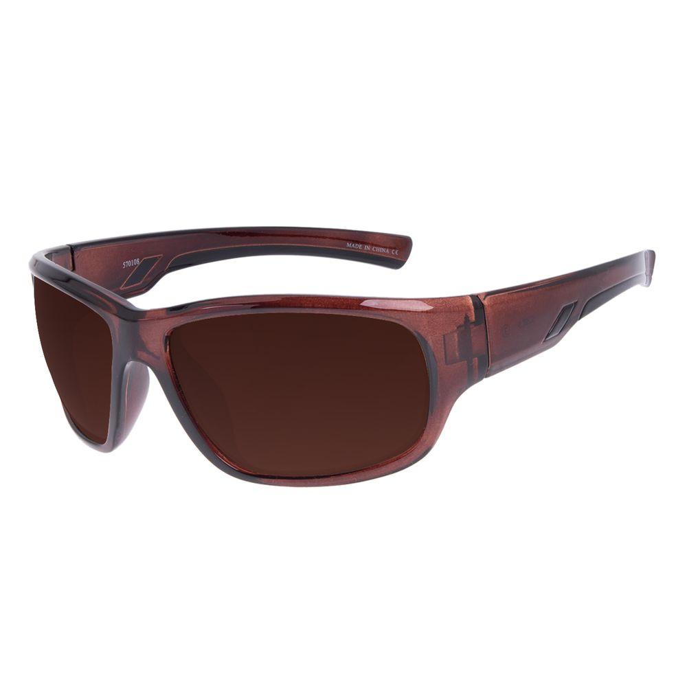 Óculos de Sol Masculino Chilli Beans Performance Esportivo Marrom OC.ES.1266-0202