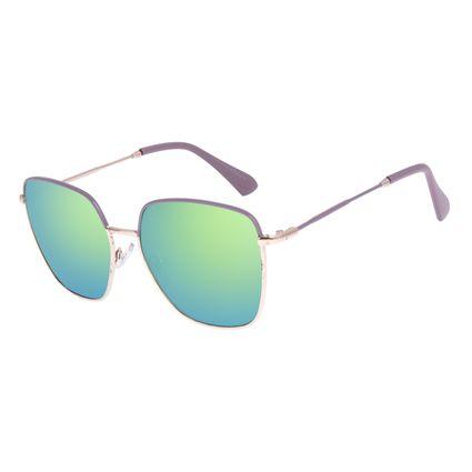 Óculos de Sol Feminino Chilli Beans Quadrado Metal Casual Dourado OC.MT.3086-5421
