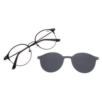 Armação Para óculos de Grau Feminino Chilli Beans Redondo Preto Polarizado LV.MU.0349-0101