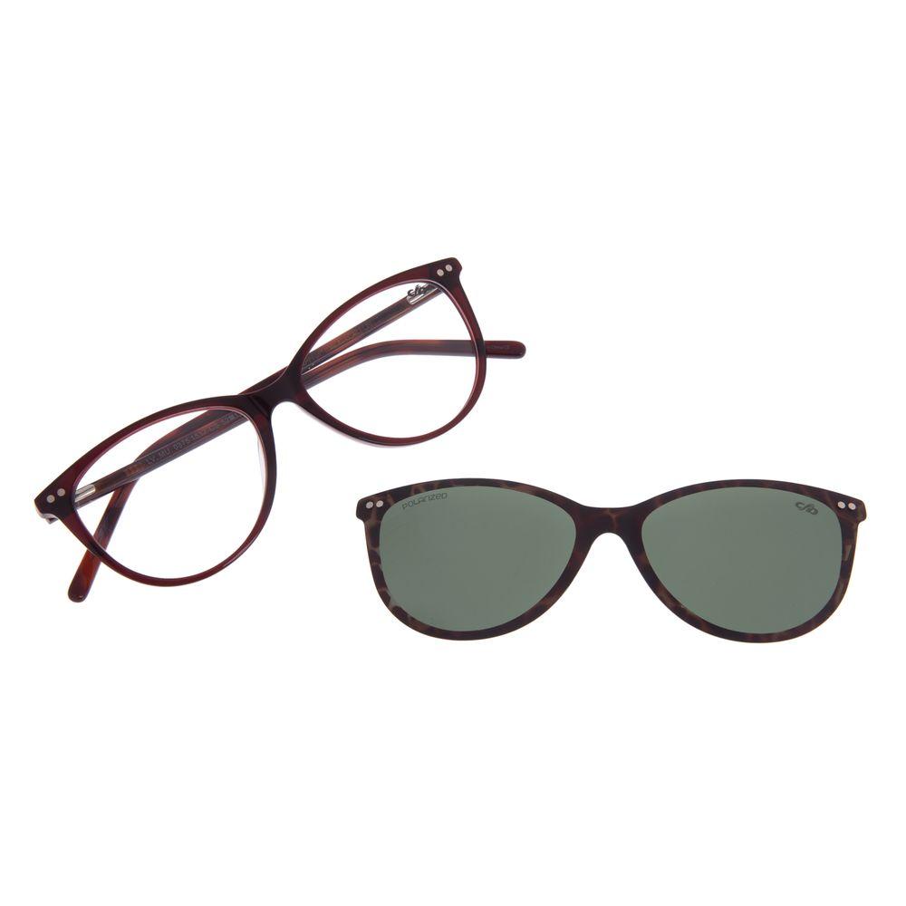 Armação Para Óculos de Grau Feminino Chilli Beans Multi Vinho Polarizado LV.MU.0375-1517