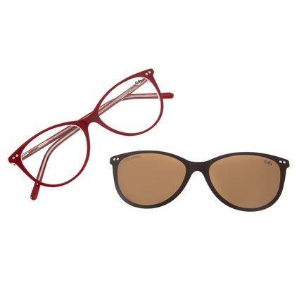 Armação Para Óculos de Grau Feminino Chilli Beans Multi Vermelho Polarizado LV.MU.0375-0216