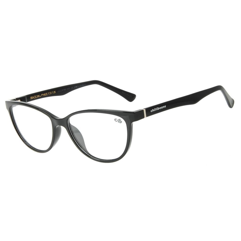 Armação Para Óculos de Grau Feminino Chilli Beans Cat Preto LV.IJ.0156-0101