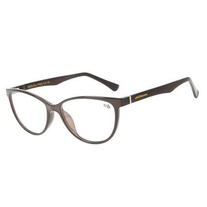 Armação Para Óculos de Grau Feminino Chilli Beans Cat Marrom LV.IJ.0156-0202