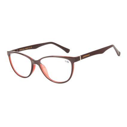 Armação Para Óculos de Grau Feminino Chilli Beans Cat Vinho LV.IJ.0156-1717