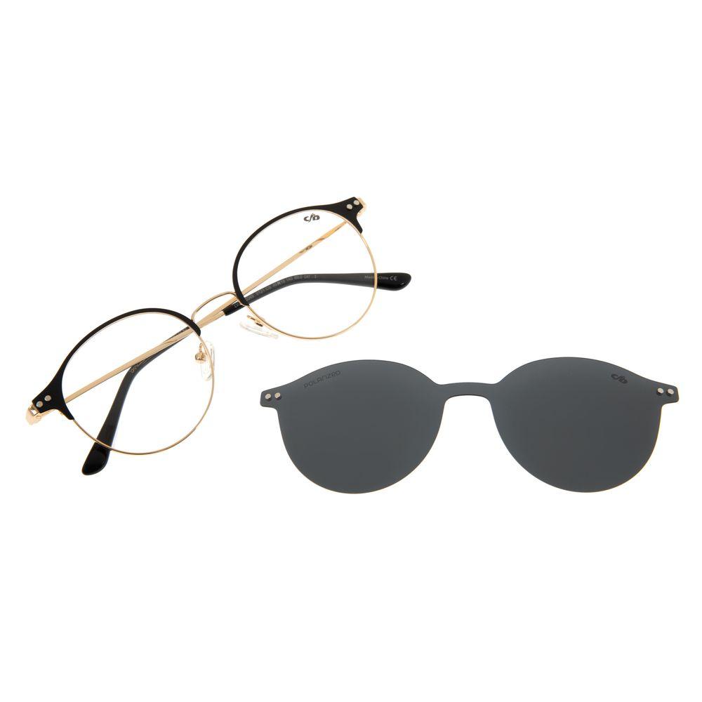 Armação Para óculos de Grau Feminino Chilli Beans Redondo Dourado Polarizado LV.MU.0349-0121