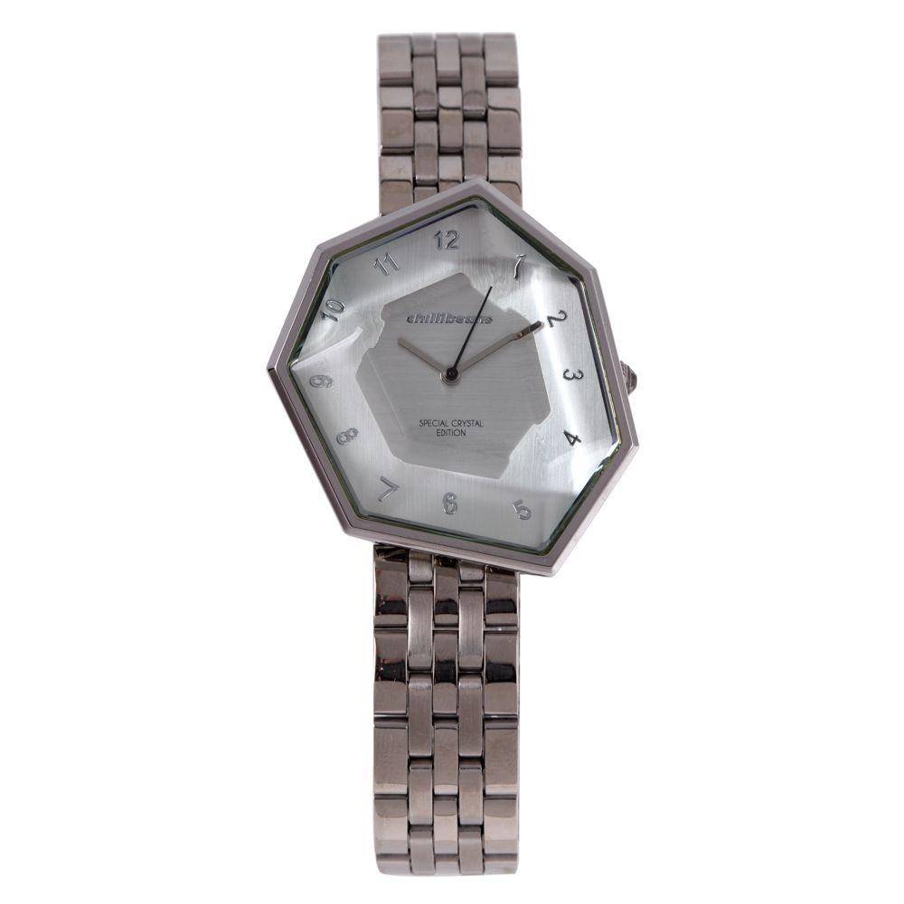 Relógio Analógico Feminino Chilli Beans Facetado Crystal Edition Prata RE.MT.1045-0707