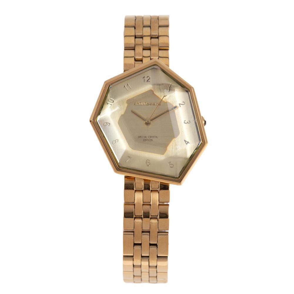 Relógio Analógico Feminino Chilli Beans Facetado Crystal Edition Dourado RE.MT.1045-2121