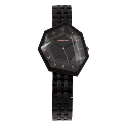 Relógio Analógico Feminino Chilli Beans Facetado Crystal Edition Ônix RE.MT.1045-2222