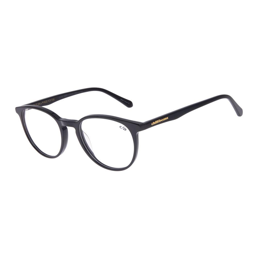 Armação Para Óculos de Grau Feminino Chilli Beans Redondo Preto LV.AC.0682-0101