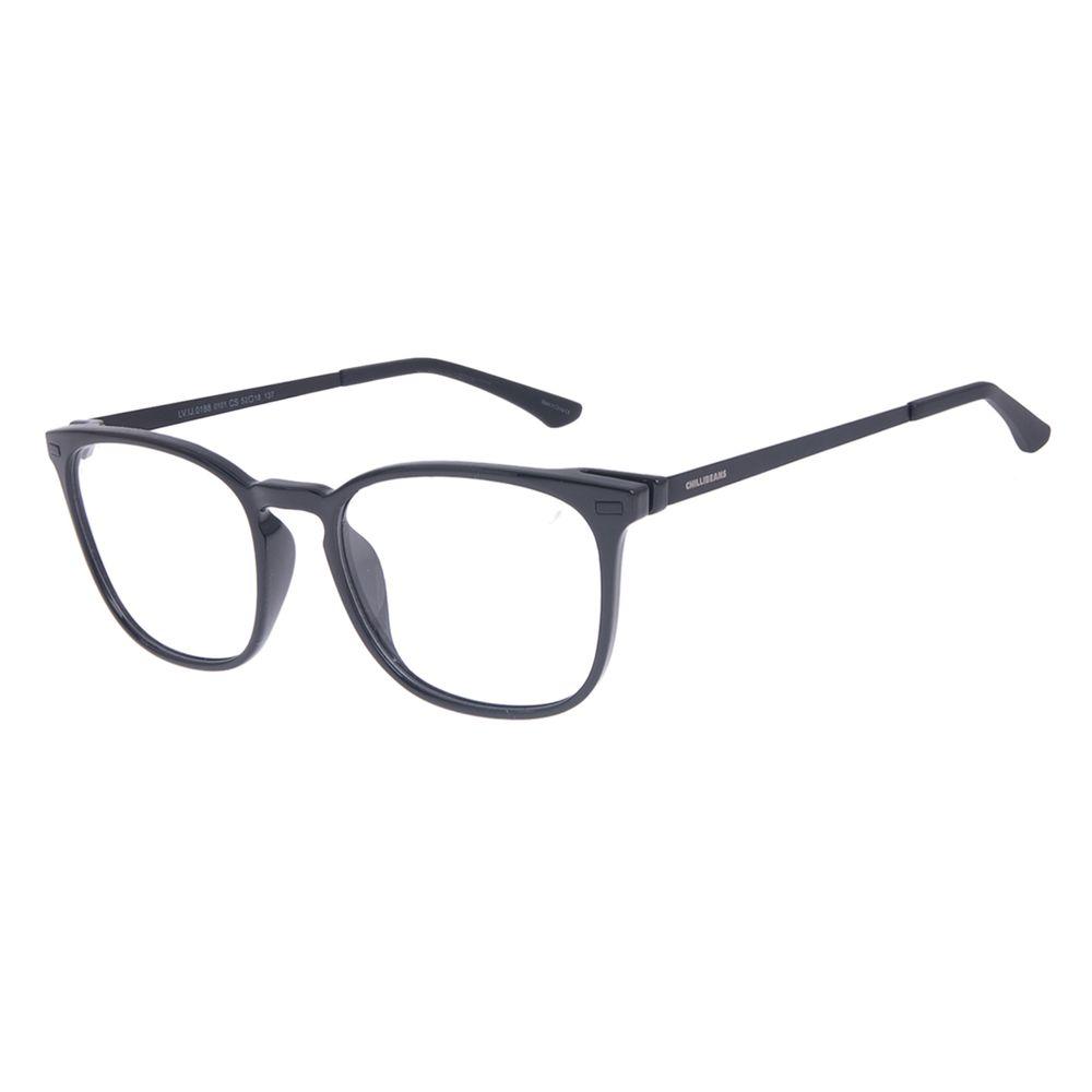 Armação Para Óculos de Grau Masculino Chilli Beans Quadrado Masculino Preto LV.IJ.0188-0101